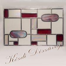 Tiffany- és ólomüveg - nyílászáróba 49.