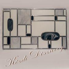 Tiffany- és ólomüveg - nyílászáróba 50.