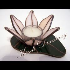 Tiffany üveg - mécsestartó 02.