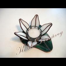 Tiffany üveg - mécsestartó 03.