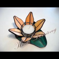 Tiffany üveg - mécsestartó 05.