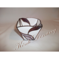 Tiffany üveg - mécsestartó 28.