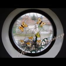 Tiffany- és ólomüveg nyílászáróba 11.