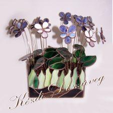Tiffany üveg - virág 07.